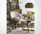 Petit fauteuil vintage tissu et bois SAFA - Bloomingville