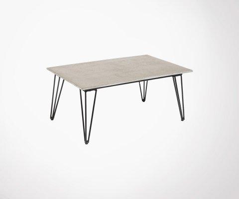 Table basse béton et métal SAM - Bloomingville