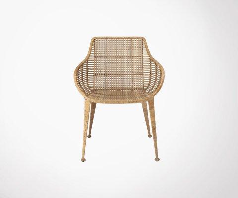 Chaise rotin lounge style bohème ZATA - Bloomingville