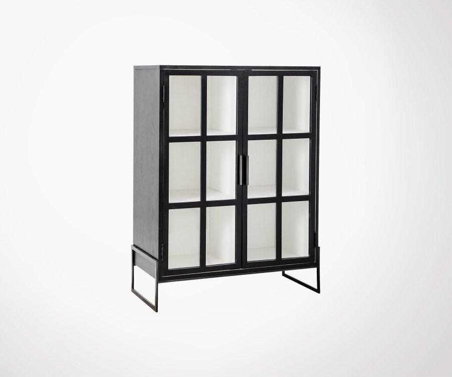 Armoire vitrée 2 portes métal ZOMA - Bloomingville
