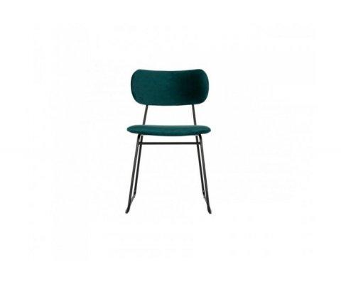 Lot de 2 chaises style rétro velours OMAR - BePureHome
