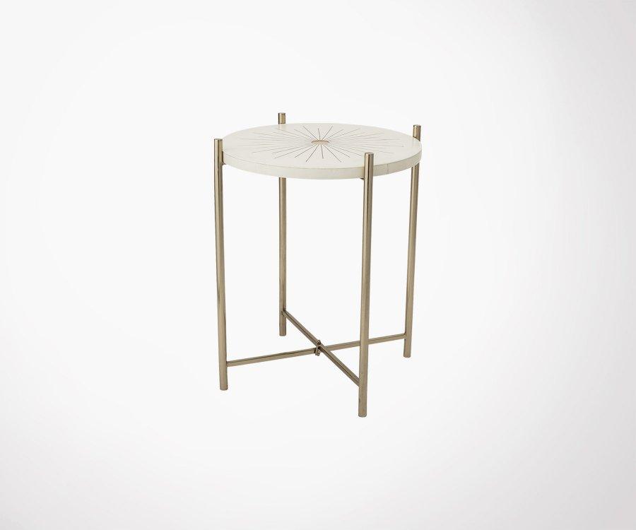 Table d'appoint ronde métal BOULA - Bloomingville