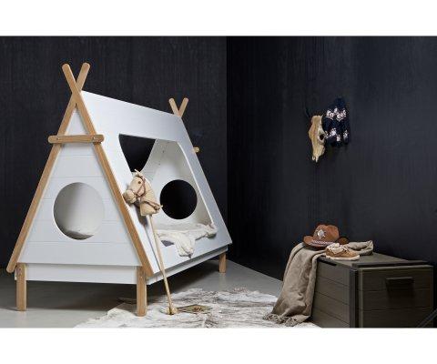Lit cabane pour enfant bois massif 90x200cm YOLANDA - Woood DHK - 1