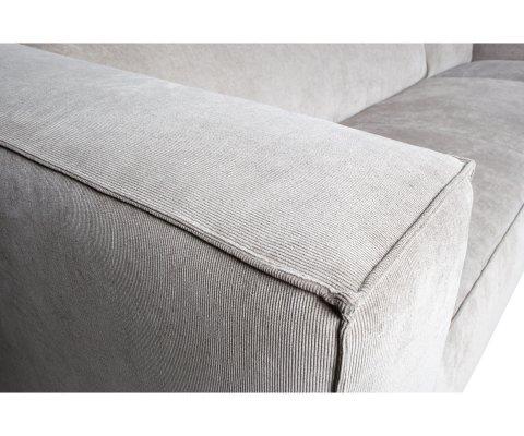 Canapé d'angle droit 4 places en tissu côtelé SIMONE