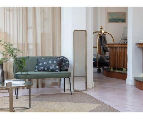 Petit canapé moderne en velours SALVA - BePureHome