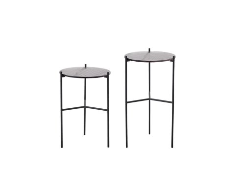 Lot de 2 tables d'appoint verre CELIA - Bloomingville