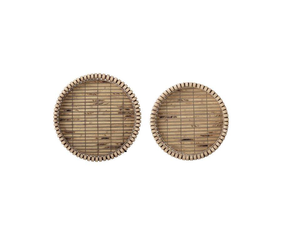 Lot de 2 tables d'appoint bambou style bohème DINA - Bloomingville