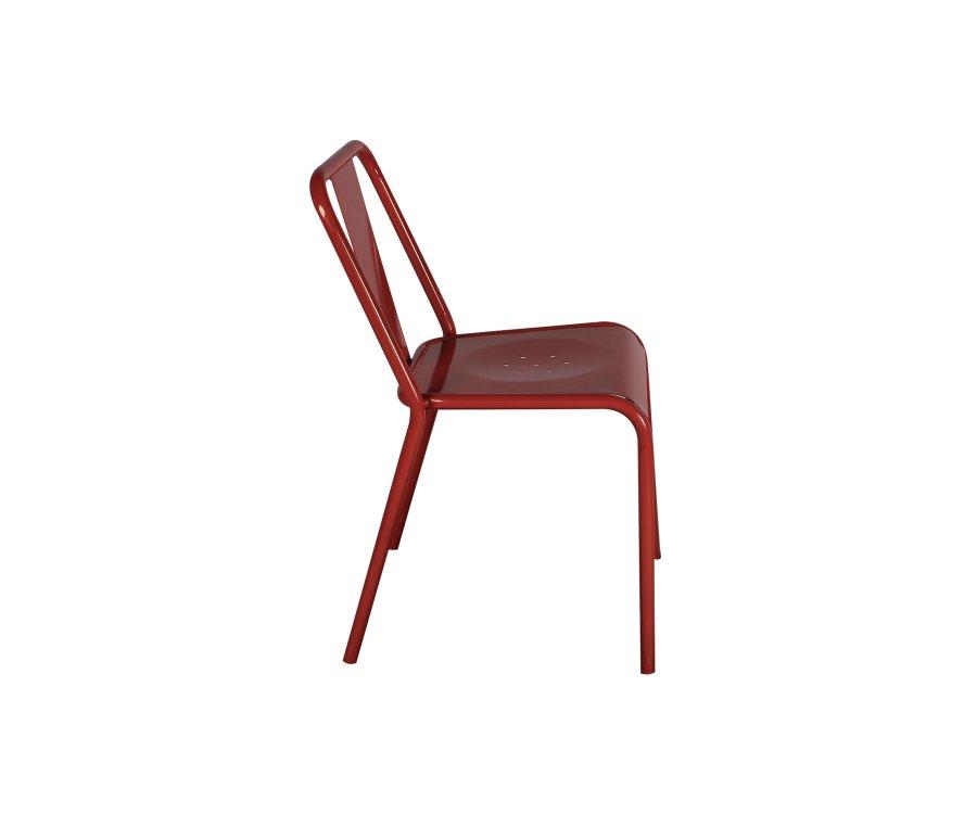 Lot de 2 chaises de café empilables PAULIN