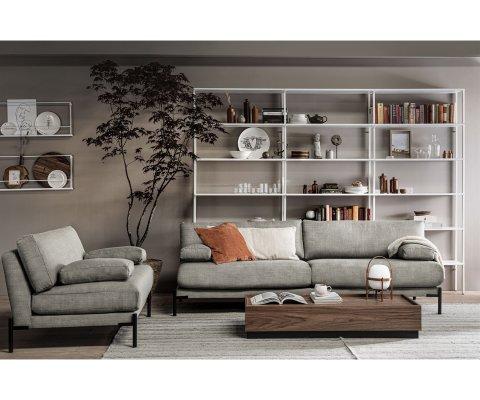 Canapé 3 places moderne tissu LENA - Vtwonen