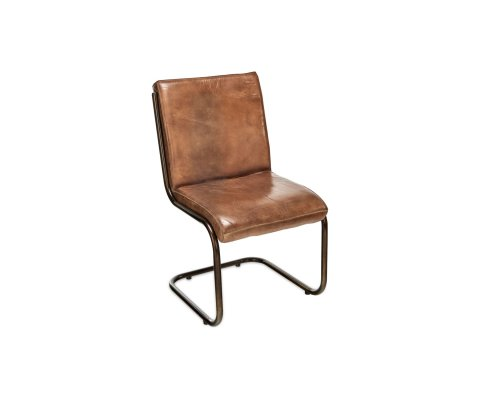 Chaise style vintage cuir - COBRA