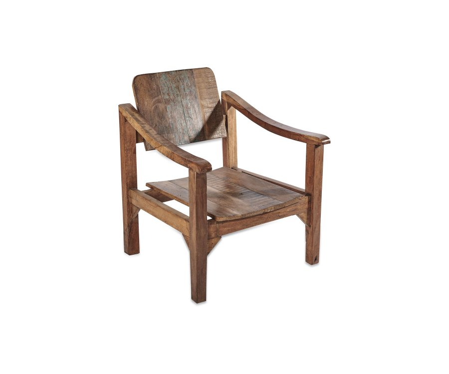 Fauteuil lounge bois massif - TOINOU