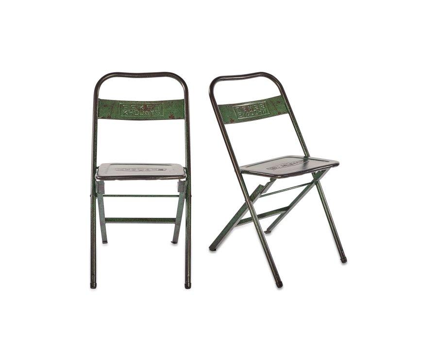 Lot de 2 chaises métal style industriel - FACTI