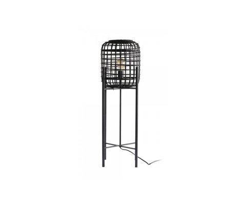 Petit lampadaire cage rotin et métal LOVA - Red Cartel