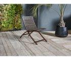 Lot de 2 chaises de jardin design bois et métal - COLI