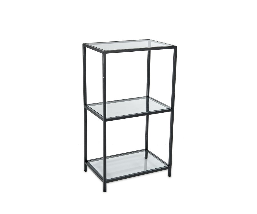 Petite étagère design métal et verre - RULA