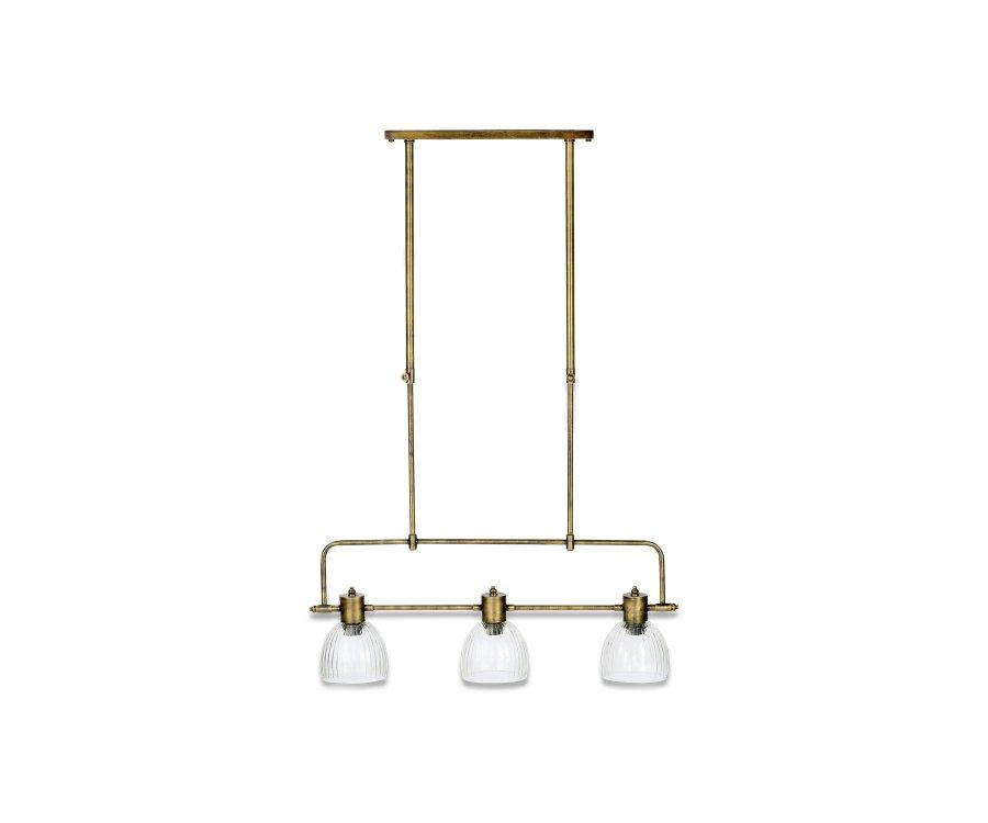 Suspension 3 lumières métal antique - THOMAS