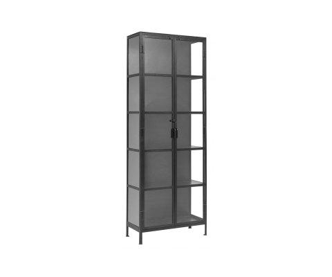 Vitrine colonne métal style moderne ALBA - Nordal