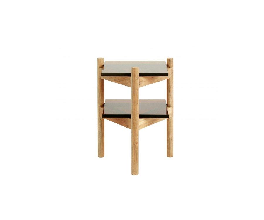 Table d'appoint bois et verre-SOMEL