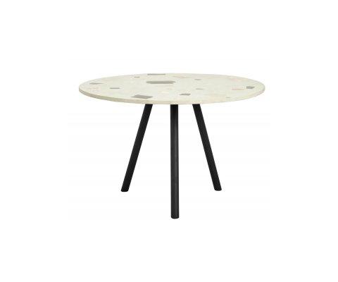 Table ronde 120cm terrazzo pieds métal TEMAL - Nordal