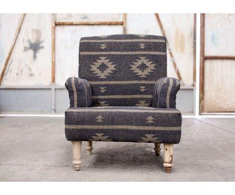 Fauteuil tissu style vintage - GULI