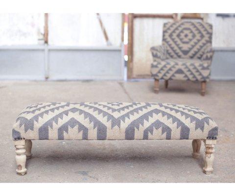 Banc style bohème en tissu à motif - KILO