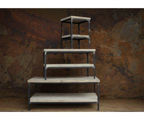 Table basse industrielle bois et métal - KOLI