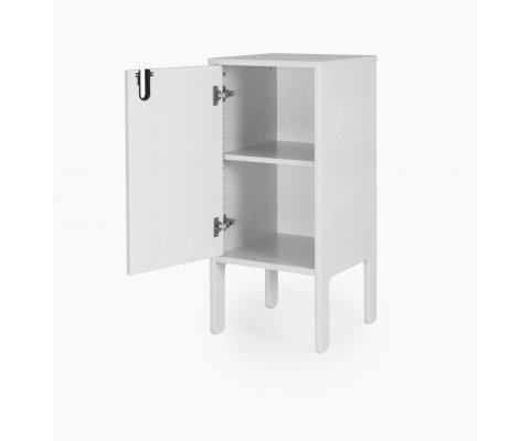 Table de chevet 1 porte style minimaliste DINA