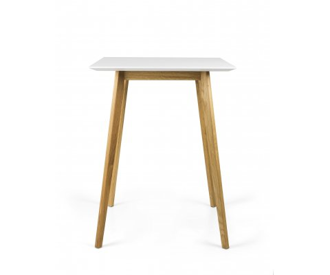 Table haute 105cm scandinave en bois DODI