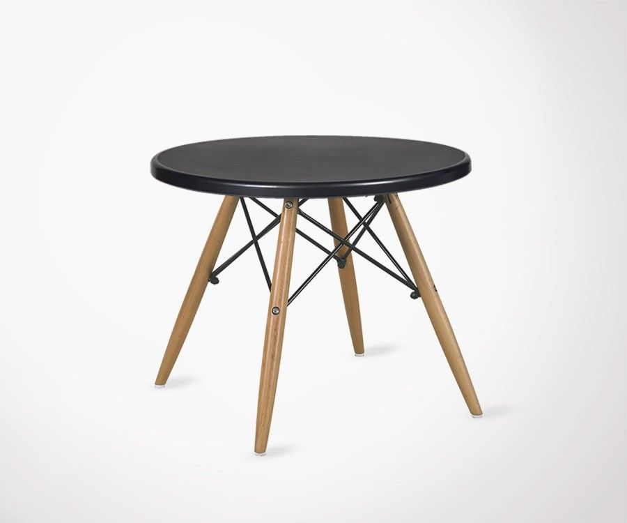scandinavian coffee table inspired by charles and ray ForTable Basse Noir Scandinave