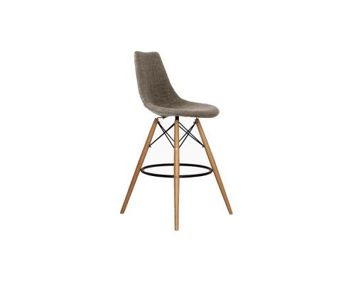 Tabouret bar assise rembourrée style scandinave 68cm DIVA