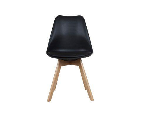 Chaise scandinave bicolore avec pieds en bois Lot de 2