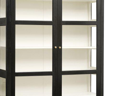 Grande vitrine double portes bois et verre-ZENI