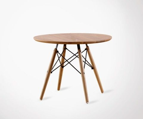 Table basse scandinave plateau naturel - 60cm
