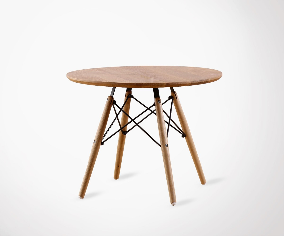Table basse vintage en bois inspiration design eames - Table basse inspiration scandinave ...