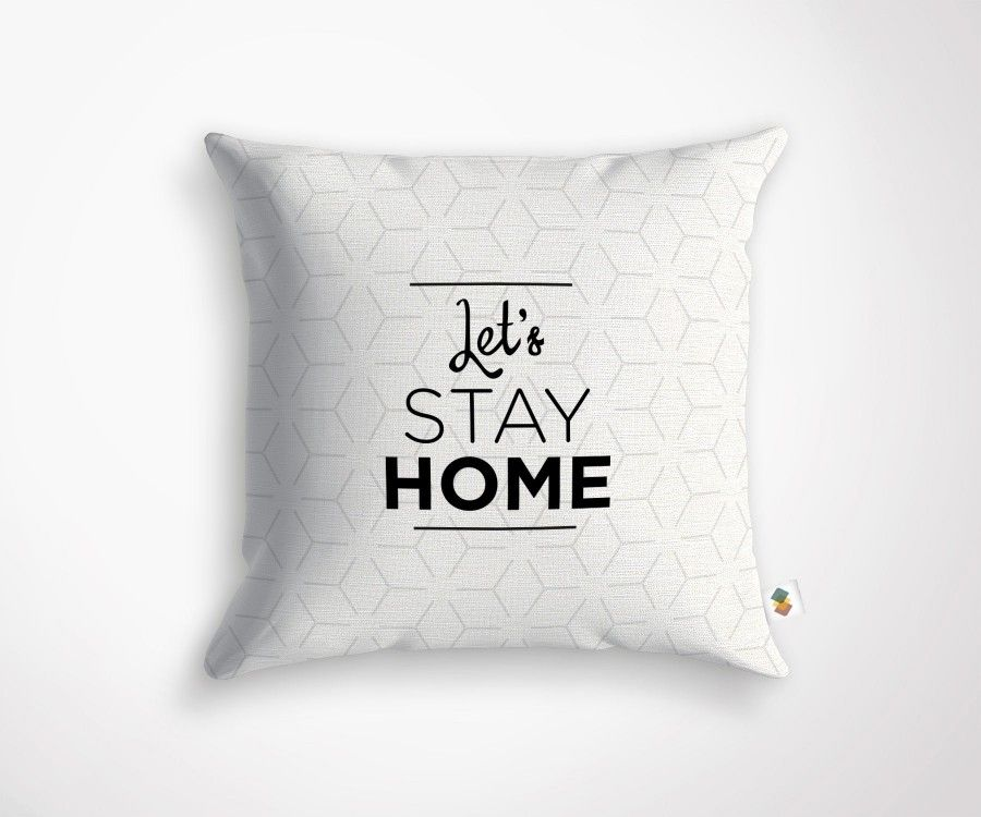 Coussin LET'S STAY HOME - 45x45cm