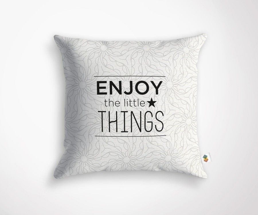 Coussin ENJOY THE LITTLE THINGS - 45x45cm