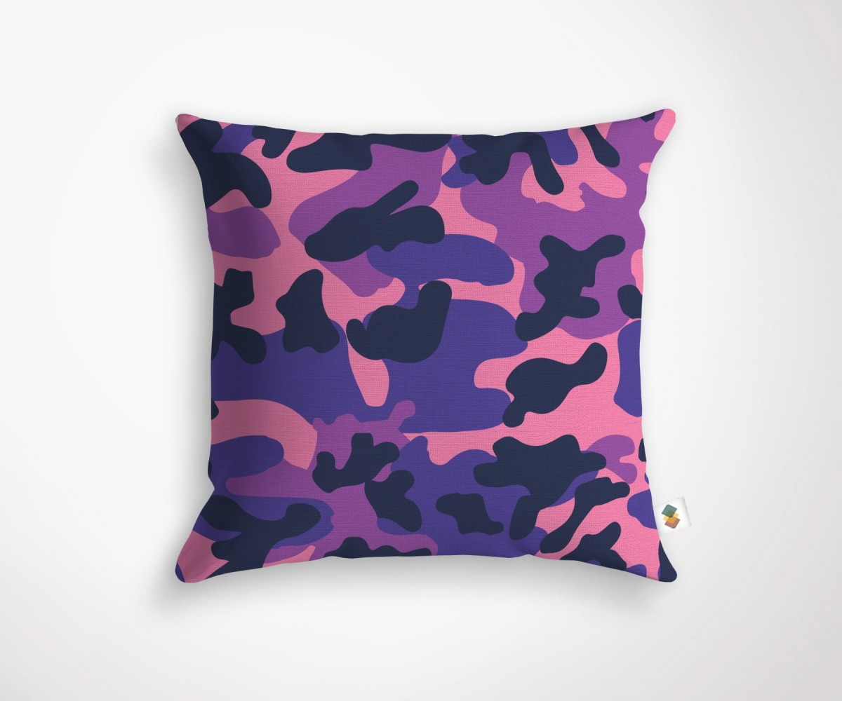 coussin camouflage violet dimensions 45x45cm. Black Bedroom Furniture Sets. Home Design Ideas
