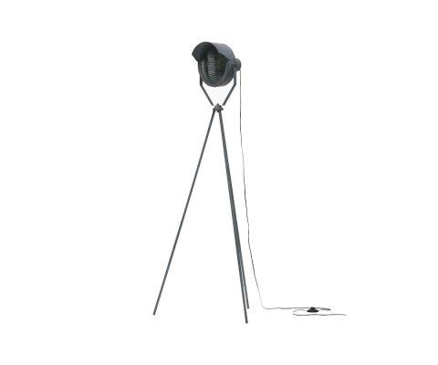Lampadaire industriel métal gris béton LESTER