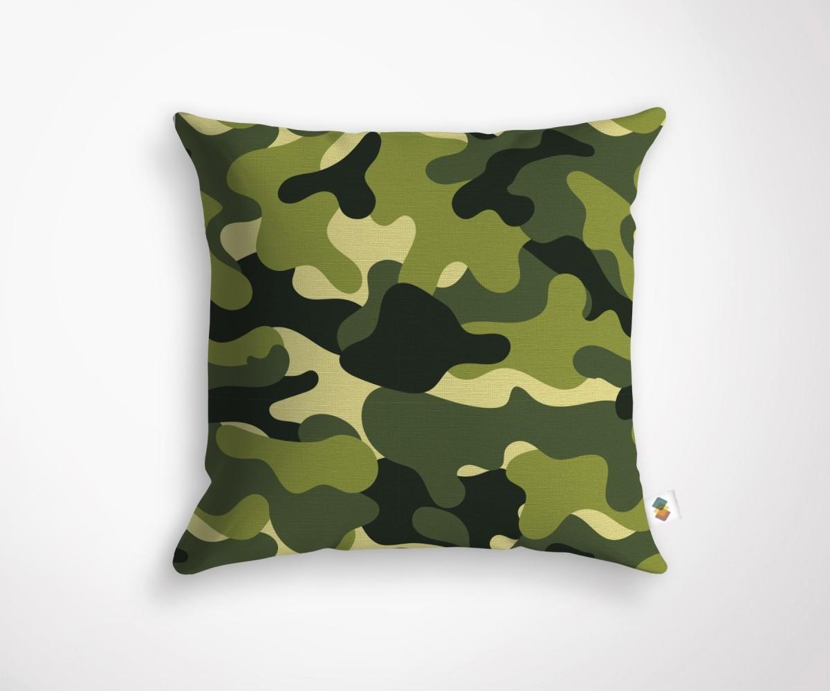 coussin décoration tendance motif camouflage