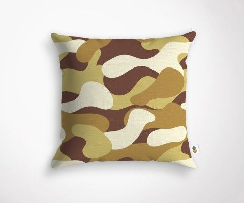 Coussin CAMEO - Camel - 45x45cm