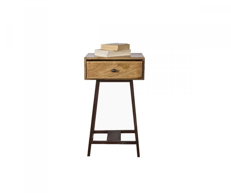 Table d'appoint vintage bois vieilli SKYBOX - BePureHome