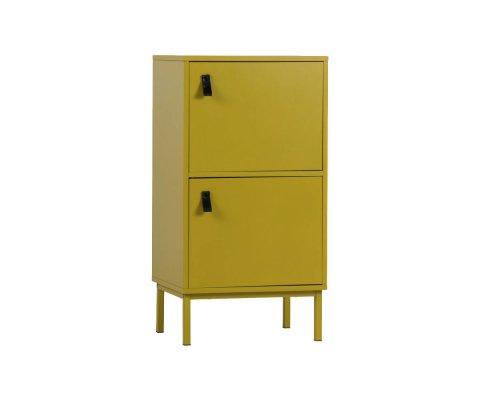 Petit meuble de rangement en bois moutarde PACO