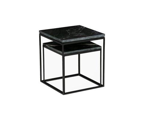 Tables gigognes marbre noir pieds métal CROSTIC - BePureHome