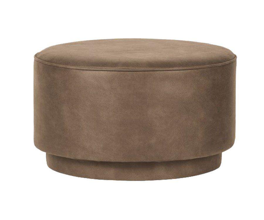 Large pouf 60cm cuir style vintage FOFFEE - Vtwonen