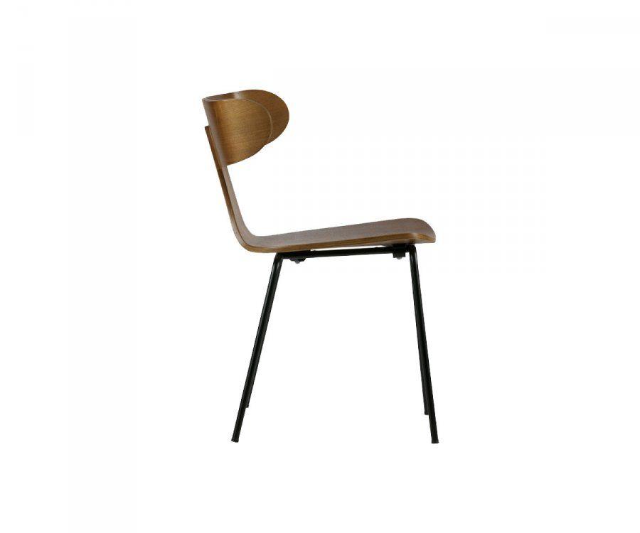 Chaise salle à manger rétro bois métal FORM
