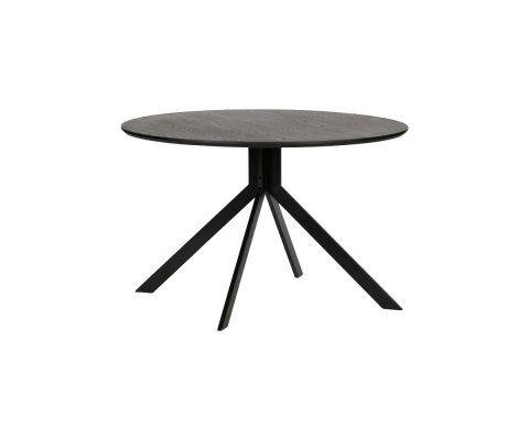 Table à manger ronde design 120cm bois noir SIDE