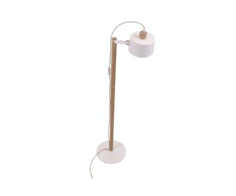 Lampadaire moderne en bois et métal THELMA - Dizy