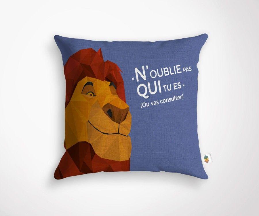 """""""N'OUBLIE PAS QUI TU ES"""" cushion - 45x45cm"""