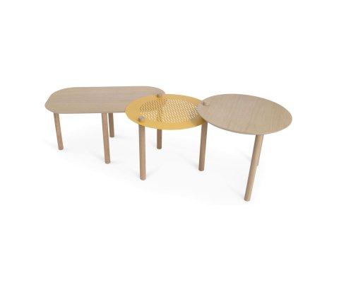 Petite table basse et duo de plateaux-DOUMA