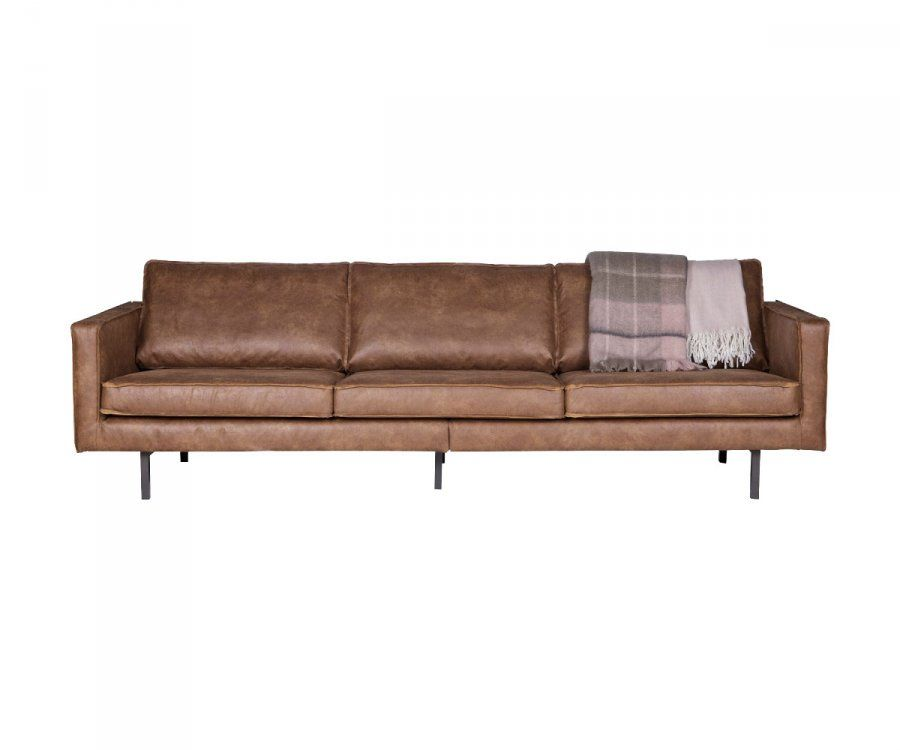 Grand canapé cuir rétro 3 places COLORADO